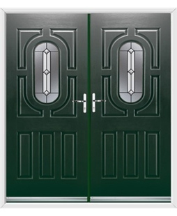 Arcacia French Rockdoor in Emerald Green with Ellipse