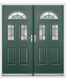 Tennessee French Rockdoor in Emerald Green with Ellipse