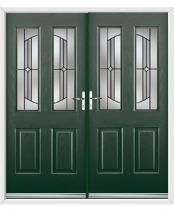 Jacobean French Rockdoor in Emerald Green with Ellipse