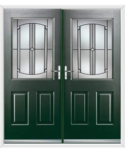 Windsor French Rockdoor in Emerald Green with Ellipse