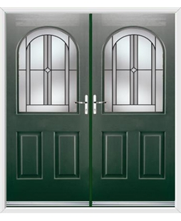 Kentucky French Rockdoor in Emerald Green with Ellipse