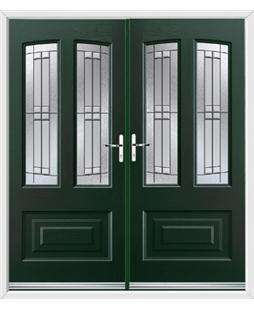 Illinois French Rockdoor in Emerald Green with Empire