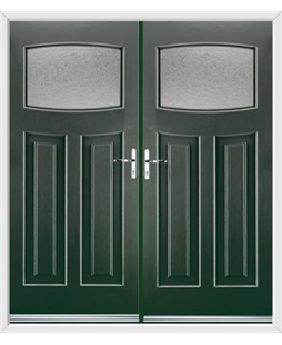 Newark French Rockdoor in Emerald Green with Gluechip Glazing