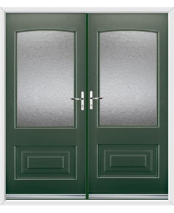 Portland French Rockdoor in Emerald Green with Gluechip Glazing