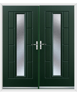 Vermont French Rockdoor in Emerald Green with Gluechip Glazing