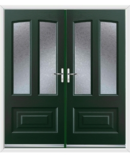 Illinois French Rockdoor in Emerald Green with Gluechip Glazing