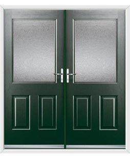 Windsor French Rockdoor in Emerald Green with Gluechip Glazing