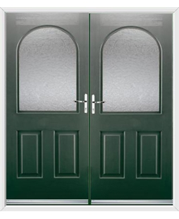 Kentucky French Rockdoor in Emerald Green with Gluechip Glazing
