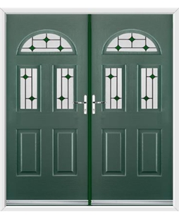 Tennessee French Rockdoor in Emerald Green with Green Diamonds
