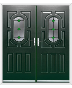 Arcacia French Rockdoor in Emerald Green with Green Diamonds