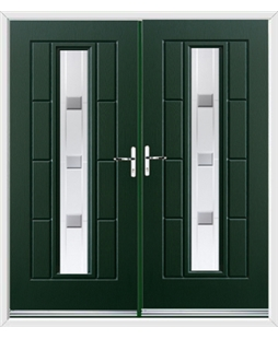 Vermont French Rockdoor in Emerald Green with Grey Shades