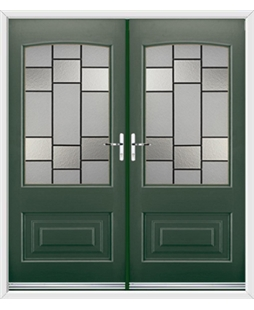 Portland French Rockdoor in Emerald Green with Horizon