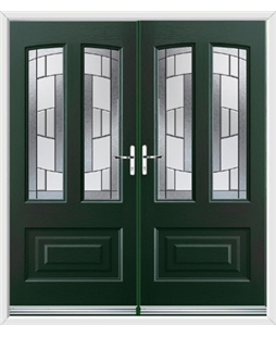 Illinois French Rockdoor in Emerald Green with Inspire