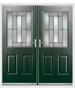 Windsor French Rockdoor in Emerald Green with Linear