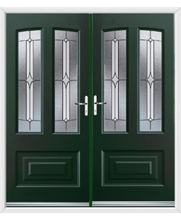 Illinois French Rockdoor in Emerald Green with Pinnacle