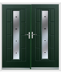 Vermont French Rockdoor in Emerald Green with Quadra