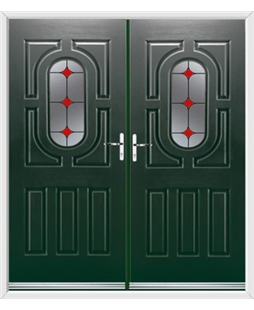 Arcacia French Rockdoor in Emerald Green with Red Diamonds