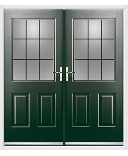 Windsor French Rockdoor in Emerald Green with Square Lead
