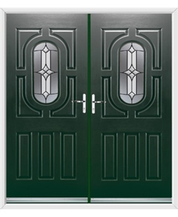 Arcacia French Rockdoor in Emerald Green with Summit