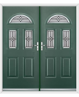 Tennessee French Rockdoor in Emerald Green with Summit