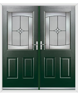Windsor French Rockdoor in Emerald Green with Summit
