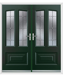 Illinois French Rockdoor in Emerald Green with Trinity