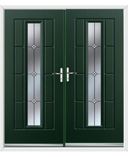 Vermont French Rockdoor in Emerald Green with Trio