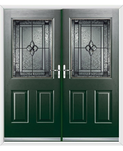 Windsor French Rockdoor in Emerald Green with Triton Glazing