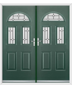 Tennessee French Rockdoor in Emerald Green with White Diamonds