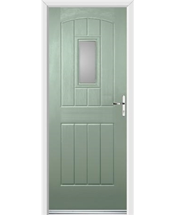 Ultimate English Cottage Rockdoor in Chartwell Green with Glazing