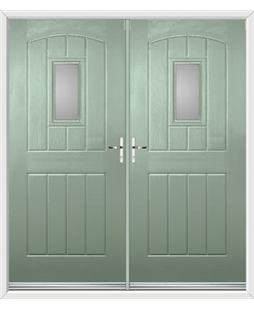 English Cottage French Rockdoor in Chartwell Green with Glazing