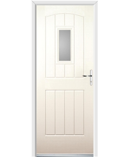 Ultimate English Cottage Rockdoor in Cream with Glazing