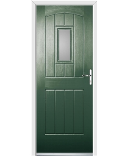 Ultimate English Cottage Rockdoor in Emerald Green with Glazing