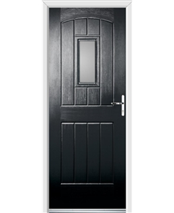 Ultimate English Cottage Rockdoor in Onyx with Glazing