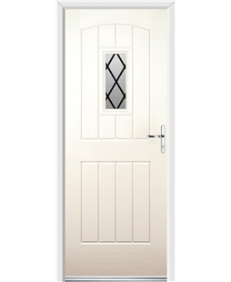 Ultimate English Cottage Rockdoor in Cream with Diamond Lead