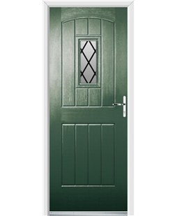 Ultimate English Cottage Rockdoor in Emerald Green with Diamond Lead
