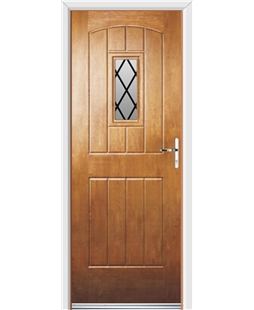 Ultimate English Cottage Rockdoor in Light Oak with Diamond Lead