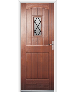 Ultimate English Cottage Rockdoor in Mahogany with Diamond Lead