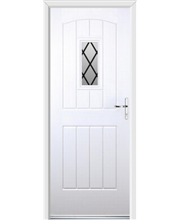 Ultimate English Cottage Rockdoor in White with Diamond Lead