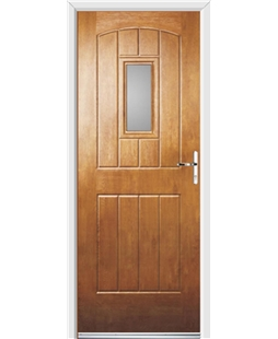 Ultimate English Cottage Rockdoor in Light Oak with Glazing