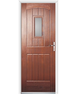 Ultimate English Cottage Rockdoor in Mahogany with Glazing