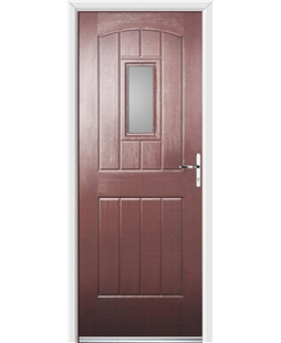 Ultimate English Cottage Rockdoor in Rosewood with Glazing