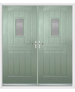 English Cottage French Rockdoor in Chartwell Green with Gluechip Glazing