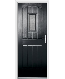 Ultimate English Cottage Rockdoor in Onyx with Gluechip Glazing
