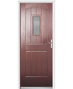 Ultimate English Cottage Rockdoor in Rosewood with Gluechip Glazing