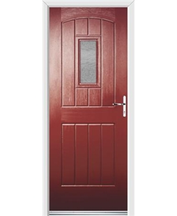Ultimate English Cottage Rockdoor in Ruby Red with Gluechip Glazing