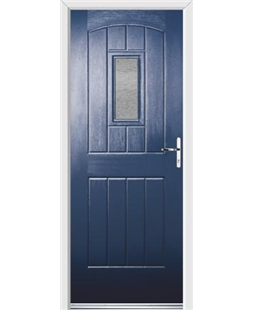 Ultimate English Cottage Rockdoor in Sapphire Blue with Gluechip Glazing