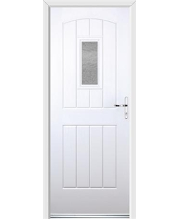 Ultimate English Cottage Rockdoor in White with Gluechip Glazing