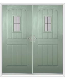 English Cottage French Rockdoor in Chartwell Green with Square Lead