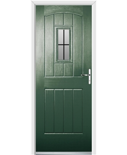 Ultimate English Cottage Rockdoor in Emerald Green with Square Lead